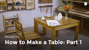 How To Make A Dining Room Table by How To Make A Table Part 1 Woodworking Youtube
