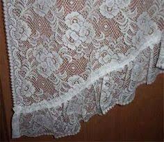 White Lace Valance Curtains White Fringe Lace Swag Valance Window Curtain Home Decor 62 X 32