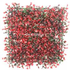 redcolor red color artificial boxwood hedge panel dongyi