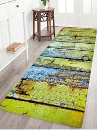 green w16 inch l47 inch corroded wood floor pattern water