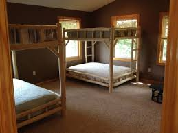 Any Size Over Queen Log Bunkbed Frame - Queen bed with bunk over
