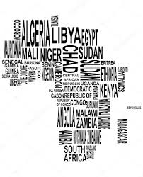 map of africa with country names africa map with country name stock vector willypd 26852421