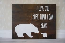 Woodland Animal Nursery Decor by I Love You More Than I Can Bear Rustic Nursery Decor I Love