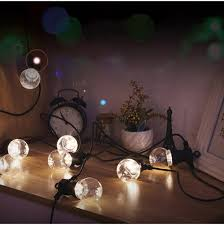 Vintage Globe String Lights by 10m Garden Patio Wedding Vintage Festoon Ball String Light 20 G50
