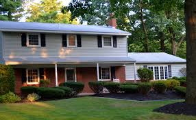 black roof cream siding red brick google search exteriors