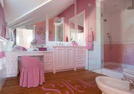 Girly Bathroom Ideas Girly Pink Bathroom With Sloped Ceiling Pink Walls With
