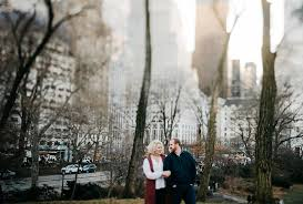 nyc photographers winter engagement portraits in nyc