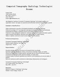 Radiologic Technologist Resume Sample by Ct Technologist Resume Example Public Relations Resume Examples Ct