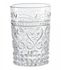 bicchieri in vetro set di 6 bicchieri in vetro trasparente linea provenzale
