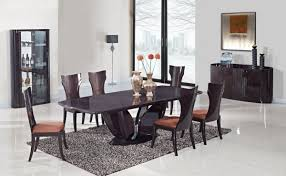 modern mediterranean dining room with large bookshelves dining