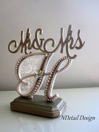 h cake topper wedding cake topper mr mrs monogram letter h in chagne lace