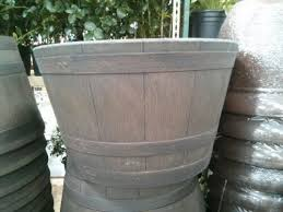 Half Barrel Planters by Planters