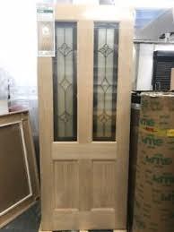 78x30 Exterior Door External Oak Veneer Glazed Exterior Front Door Malton 78 X 30