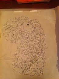 tattoonow original art diego koi fish sketch 2