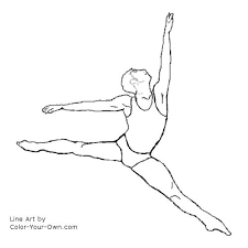 dancers male ballet dancer coloring page 3