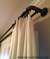 Amazing Double Curtain Rod Design by Best Diy Double Curtain Rod Ever 2 Years Later Sincerely Saturday