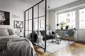 studio apartment with glass dividing wall studio u0026 loft