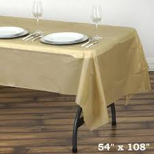 thick plastic table cover 10mil thick disposable plastic vinyl picnic tablecloth gold 54