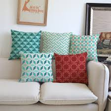 cuscini per arredo geometrica verde fodere per cuscini in cotone e lino copriletto