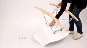 assembly instructions eames rocking chair rar youtube