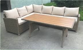Patio Table L Outdoor Patio Sofa Set L Shaped Outdoor With Table