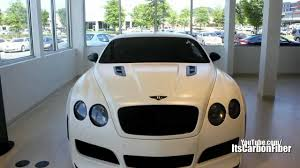 matte bentley rare matte white platinum motorsports bentley continental gt youtube