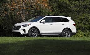 hyundai santa fe 3 child seats 2018 hyundai santa fe in depth model review car and driver