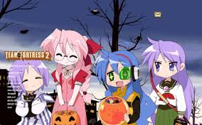 halloween anime background lucky star halloween team fortress 2 u003e guis u003e menu backgrounds