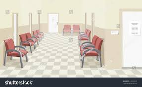 empty waiting room hospital private medical stock vector 438095635