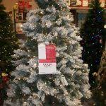 foot 7 ft white pre lit tree king flock slim artificial