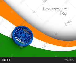 National Flags With Orange Indian Independence Day Concept 3d Vector U0026 Photo Bigstock
