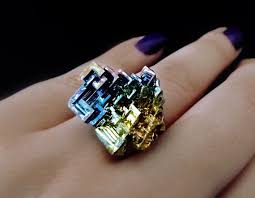 crystal jewelry rings images 57 best bismuth crystal jewelry images crystal jpg
