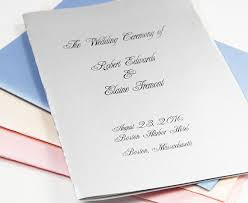 wedding programs paper metallic wedding program kits lci paper