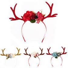 christmas headbands aliexpress buy floral christmas headbands women girs