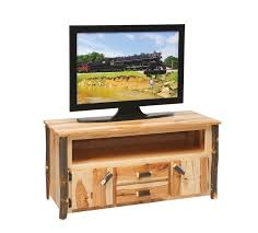 Unfinished Tv Armoire Rustic Cabin Hickory Tv Stand
