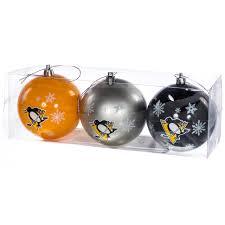 nhl pittsburgh penguins ornaments set of 3 retrofestive ca