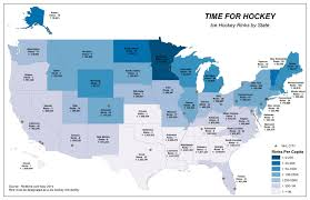 State Map Of The Us by Interesting Map Of Rinks Per State And Per Capita Uscho Com Fan