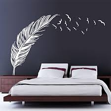 stickers ecriture chambre chendongdong creative chambre oiseaux volants plumes home sticker