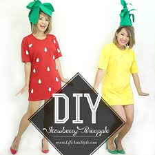 diy strawberry pineapple halloween costume ann le style