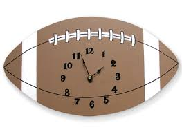 trend lab little mvp football wall clock u0026 reviews wayfair