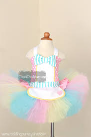Girls Halloween Birthday Party Ice Cream Parlor Tutu Costume Retro Candy Shop Birthday Party