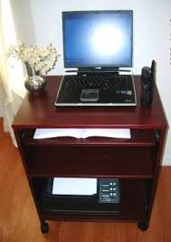 Laptop Desk With Printer Shelf S2326 23 W Compact Computer Desk With Keyboard Shelf Mouse Tray