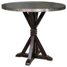 Zinc Bistro Table Adorable Zinc Bistro Table With Carlo Bar Table With Zinc Top