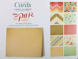 american crafts the pier boxed cards 40 pack
