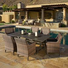 Costco Patio Furniture Dining Sets Woodcliff 7 Dining Set