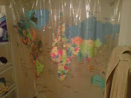 Shower Curtain World Map Errors On Bed Bath And Beyond U0027s U201cthe World U201d Vinyl Shower Curtain