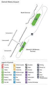 detroit metro airport map dtw airport car rentals airportrentalcars com