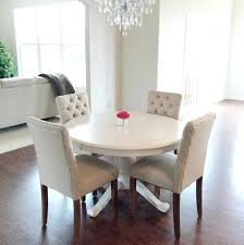 Round White Dining Room Table  Jeffleeco - White round dining room table sets
