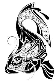 sign of pisces tattoo design stock vector image 13029042