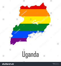 Map Of Uganda Vector Rainbow Map Uganda Colors Lgbt Stock Vector 346854734